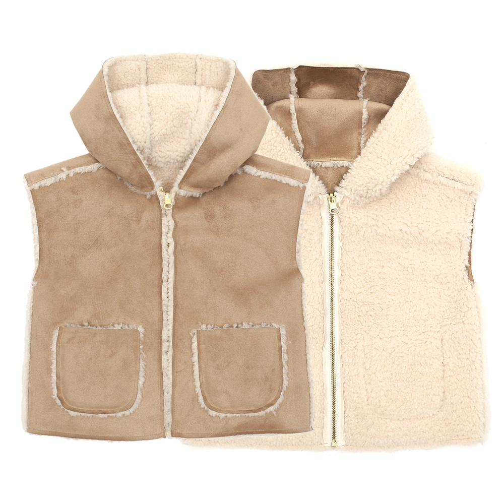 [SALE 69,000→48,300] REVERSIBLE SHEARING VEST (kids)