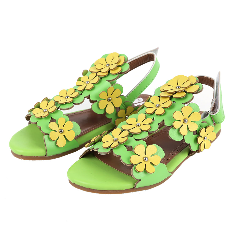 [프리오더] Flower sandal (yellow green) 10% 할인가 55,000won→49,500won