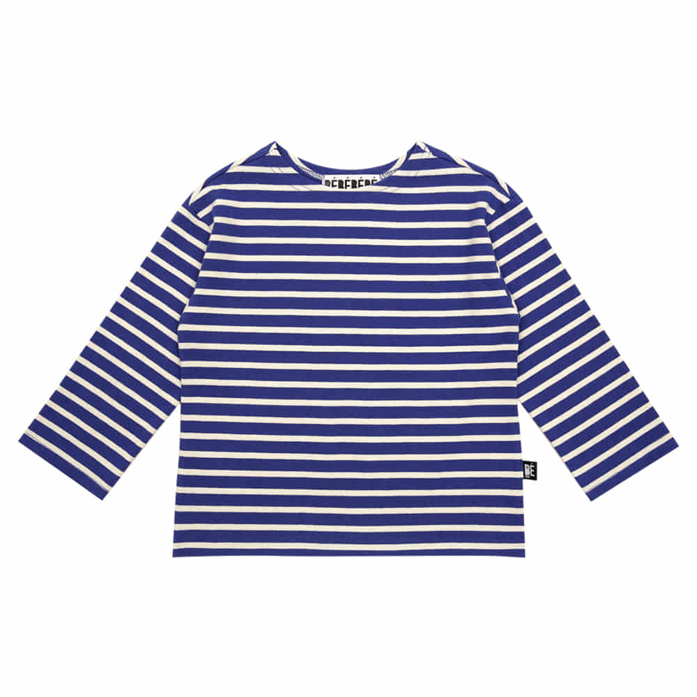 [바로배송] Striped cotton tee (Blue)