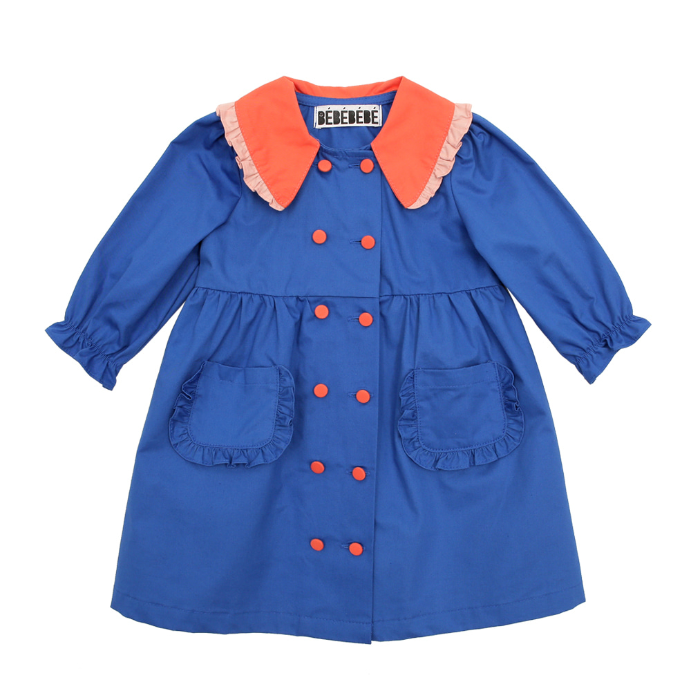 [프리오더] Blue caket trench coat x  dress (baby)