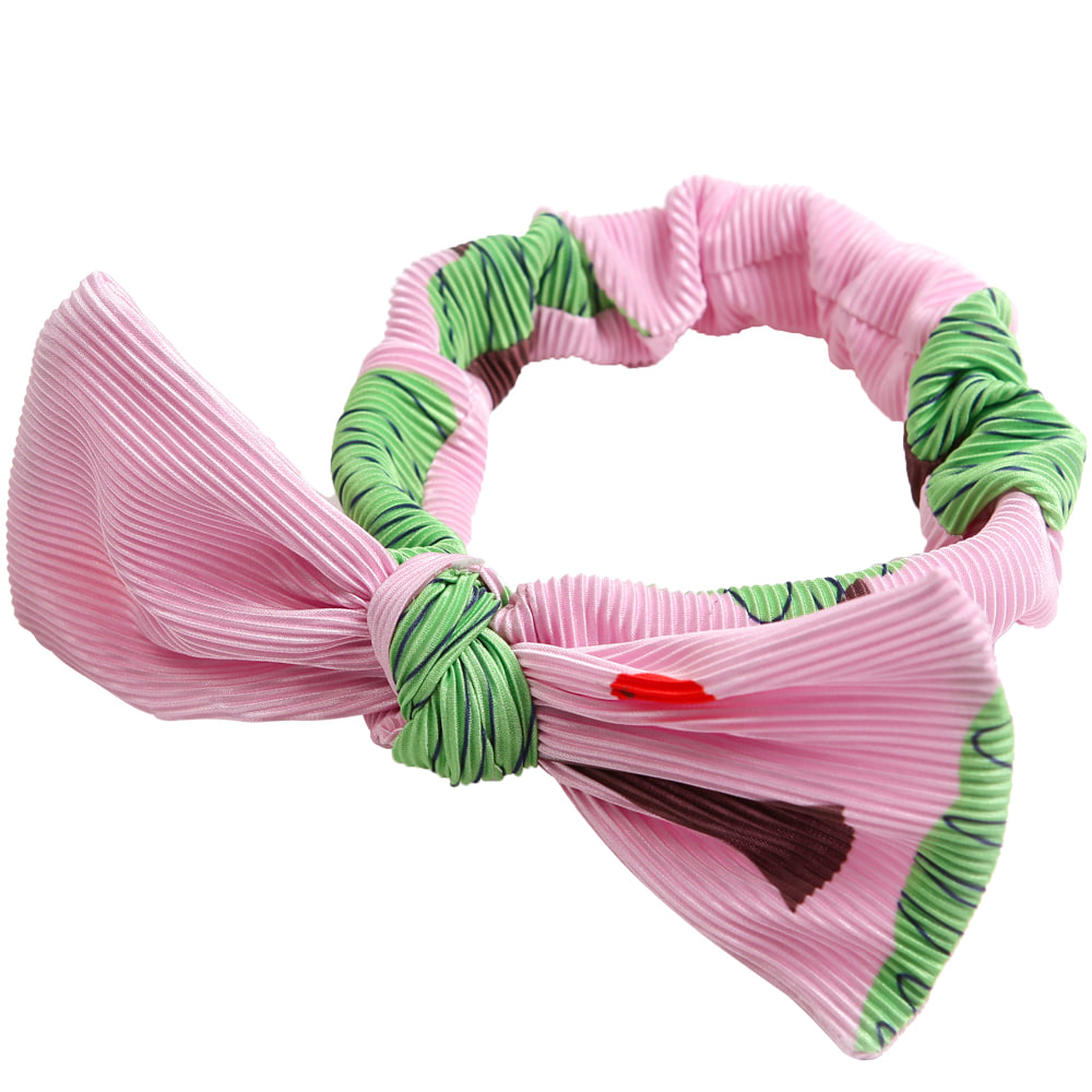 [프리오더 20% 할인적용 11,000→8,800] PINK apple tree pleats head band