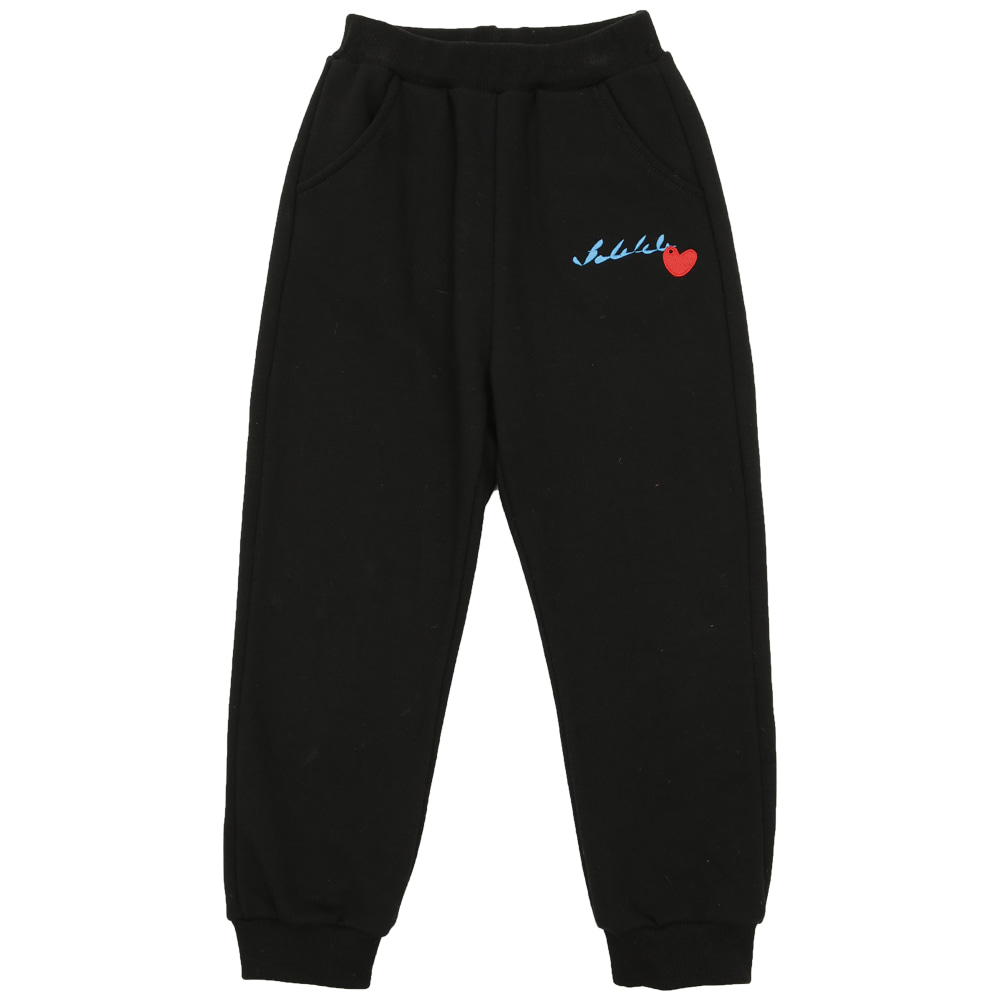Black new logo training pants