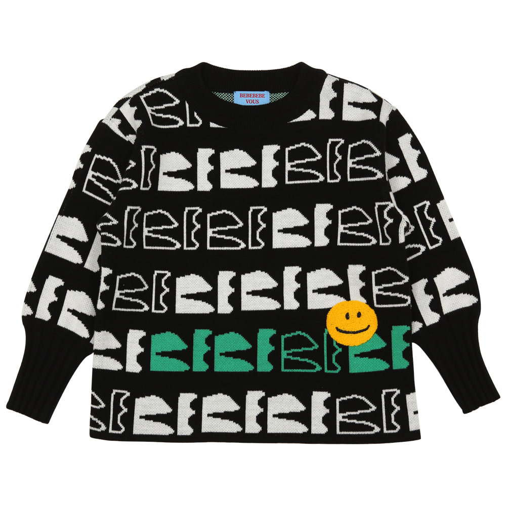 [프리오더 10%할인적용 44,000→39,600] BEBEBEBE new logo knitted sweater
