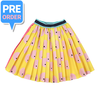 [PRE-ORDER] Cloud bichon - pink pleats skirt