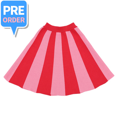 [PRE-ORDER] Colour block cotton knitted skirt