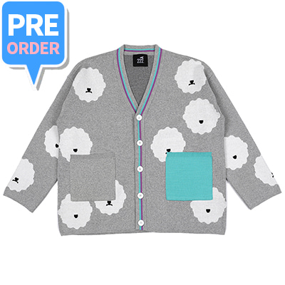 [2차 PRE-ORDER][222.A] Cloud bichon cotton cardigan(adult)