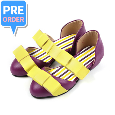[프리오더 10% 할인 55,000won → 49,500won] BEBEBEBE Ribbon shoes (purple)