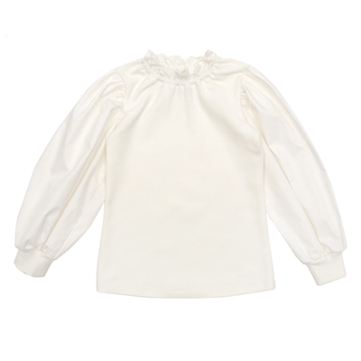 [LIMITED EDITION] Cotton Frilled Puff blouse