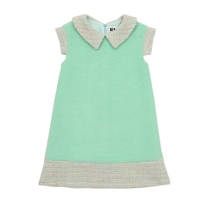 [LIMITED EDITION] Mint tweed dress