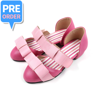 [프리오더 10% 할인 55,000won → 49,500won] BEBEBEBE Ribbon shoes (pink)