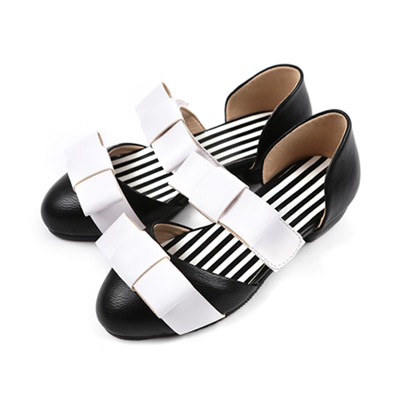 BEBEBEBE Ribbon shoes (black)