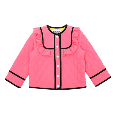 Quilted frill jacket (pink)