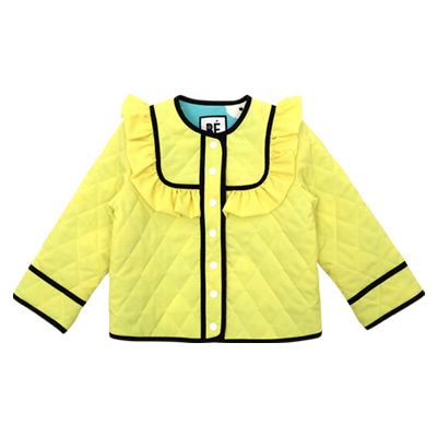 Quilted frill jacket (yellow)