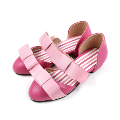BEBEBEBE Ribbon shoes (pnk)