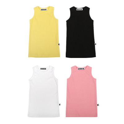[6차 오더] BE sleeveless top SET (black+white+yellow+pink)-5%할인 64,000won→60,800won