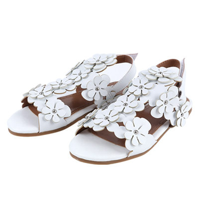 [여유수량판매] Flower sandal (white)