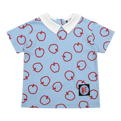 [여유수량판매] Summer apples cotton collar top