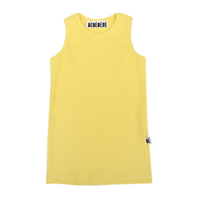 [B품 50% SALE 16,000→8,000]  BE sleeveless top (yellow)
