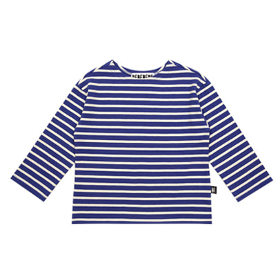 Striped cotton tee (Blue)