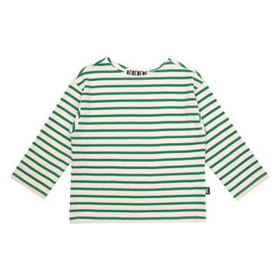 Striped cotton tee (Green)
