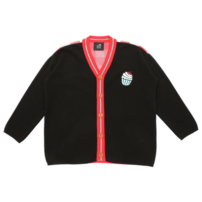 [222.A] Cupcake cotton knitted cardigan (ADULT)