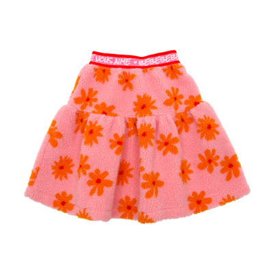 Winter flowers fleece skirt