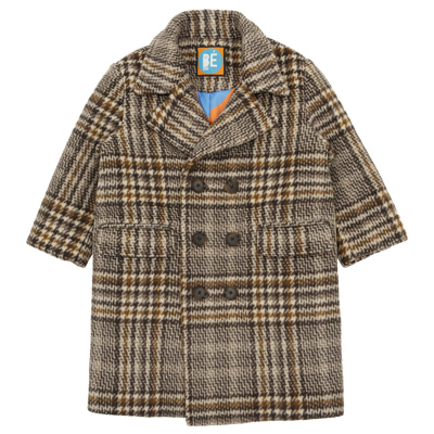 Brown checked coat