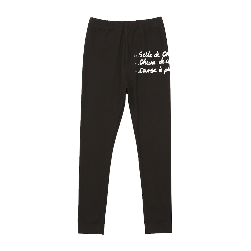 BEBEBEBE warm heat inner wear pants (BLACK)