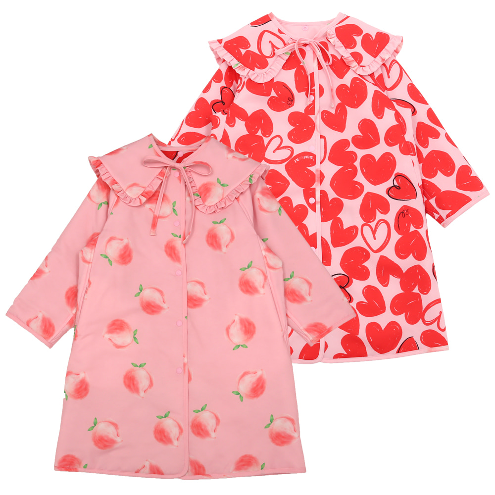[프리오더 10%할인적용 109,000→98,100] Peach and heart reversible coat
