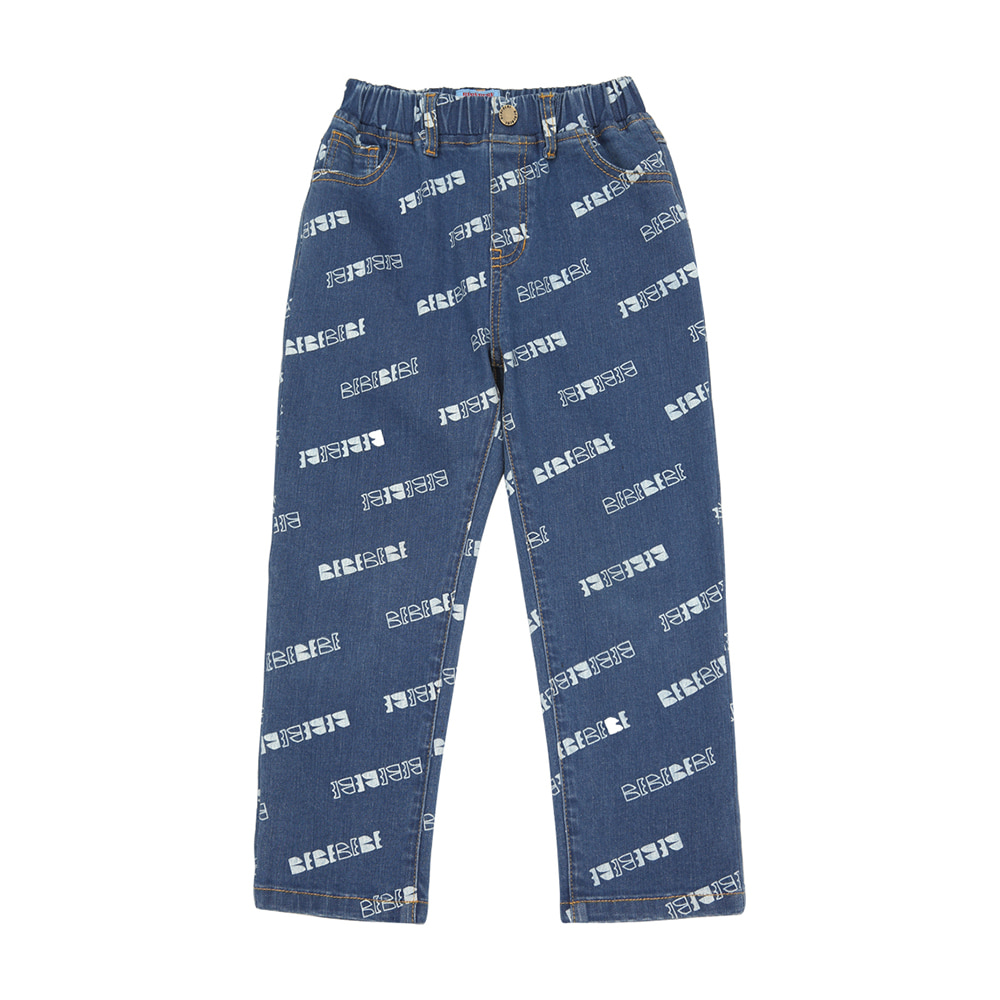 [프리오더 10%할인적용 42,000→37,800]BEBEBEBE logo denim pants