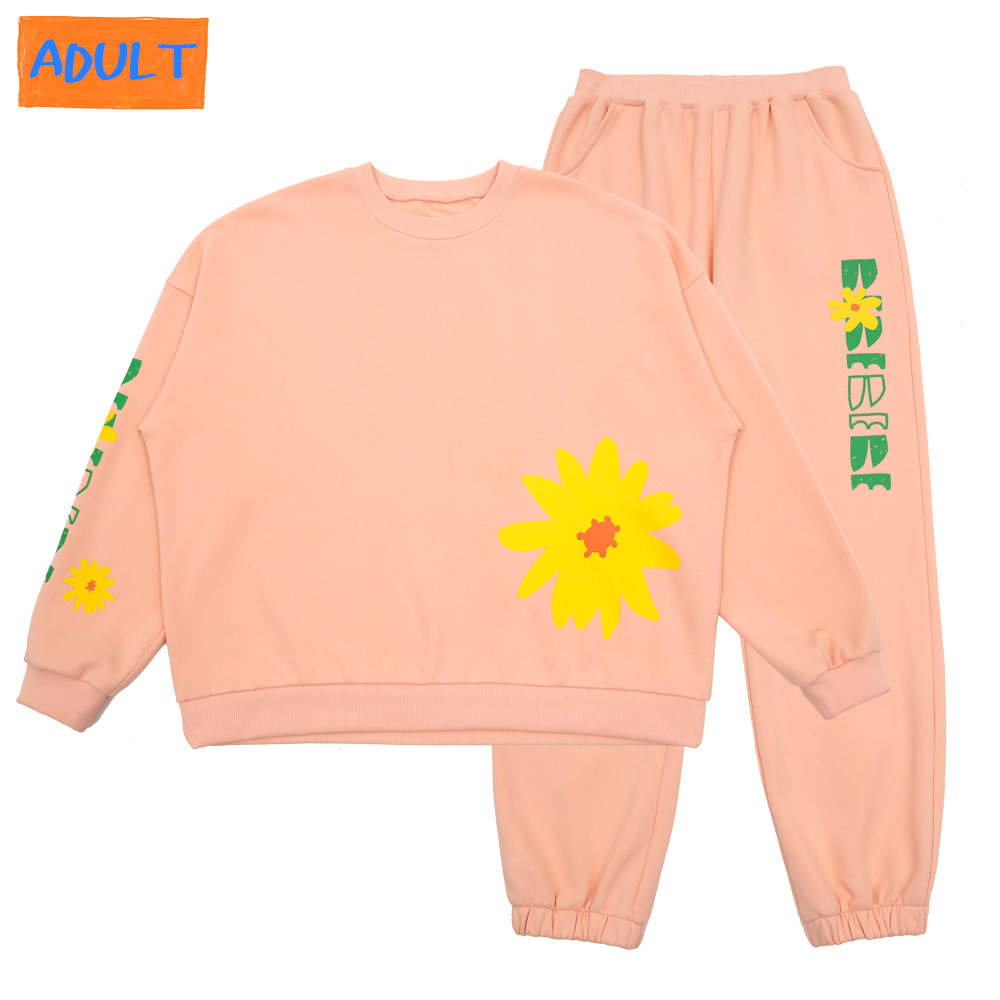 [프리오더 10%할인적용 77,000→69,300] BEBEBEBE flower new logo set up (CORAL PINK)-ADULT