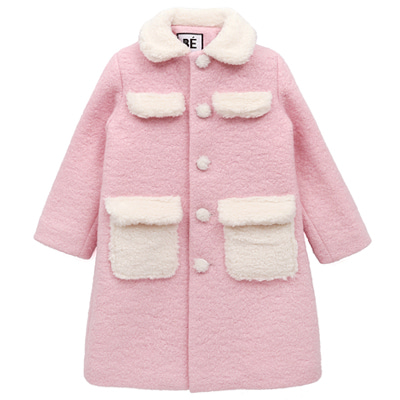 PINK COTTON CANDY COAT