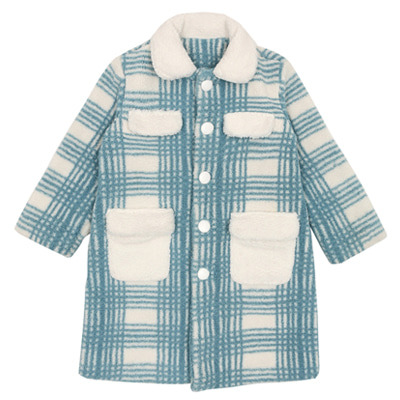 CHECKED COTTON CANDY COAT