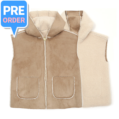 [프리오더] REVERSIBLE SHEARING VEST (adult)