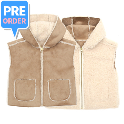 [프리오더] REVERSIBLE SHEARING VEST (kids)