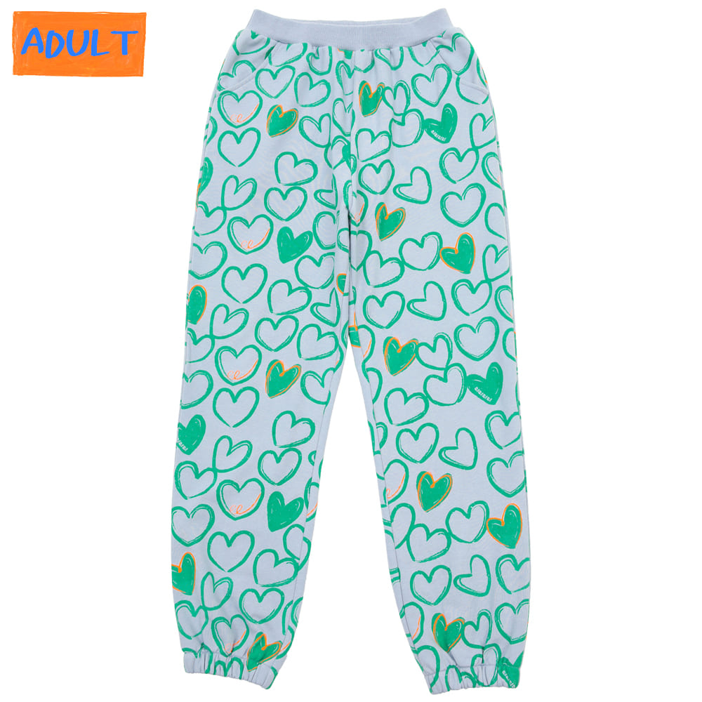[프리오더 10%할인적용 43,000→38,700] Mint heart training pants (ADULT)