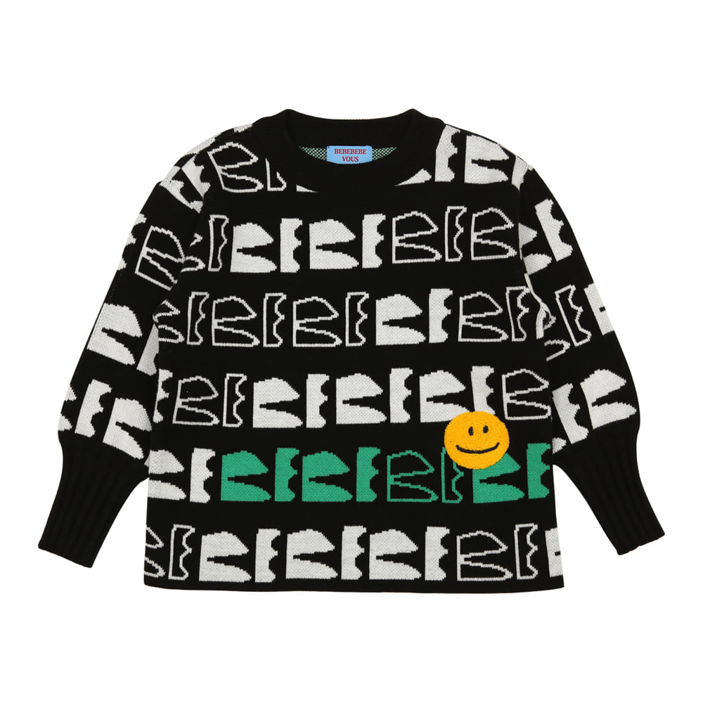 [바로배송] BEBEBEBE new logo knitted sweater