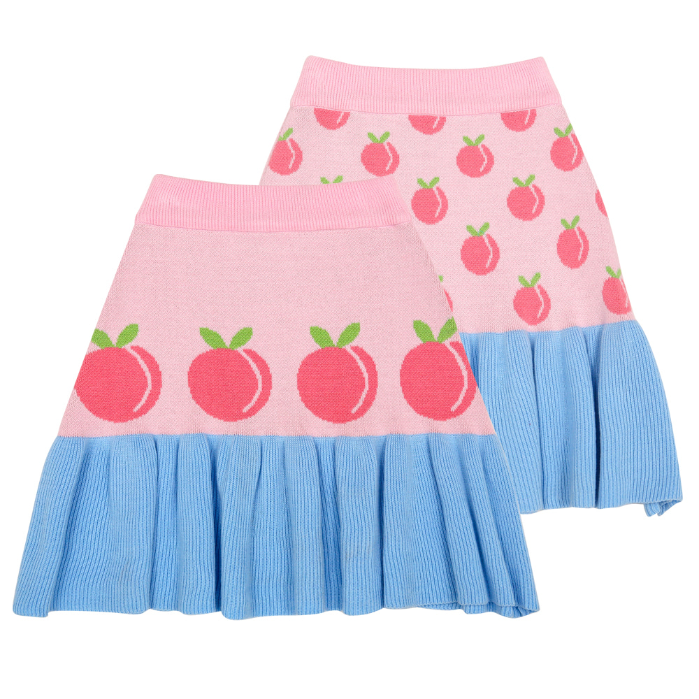 [바로배송] Peach peach cotton knitted skirt