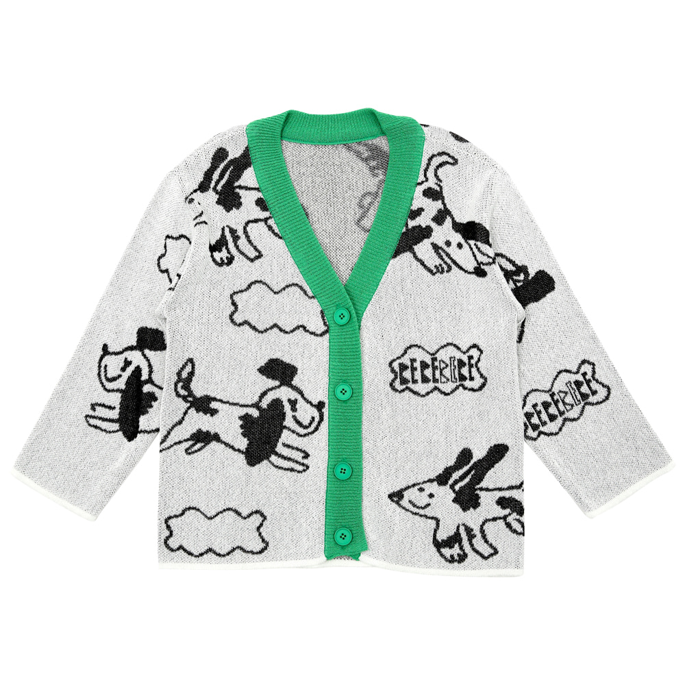 [프리오더 15%할인적용 57,000→48,450] Cloud puppies summer cardigan