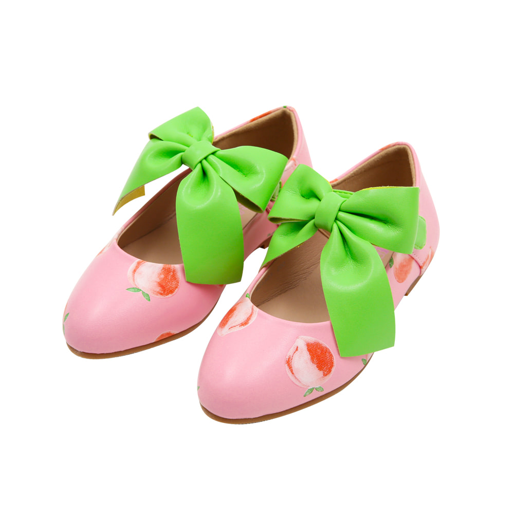 [프리오더 10% 할인적용 55,000→49,500] BEBEBEBE ribbon shoes (PEACH)