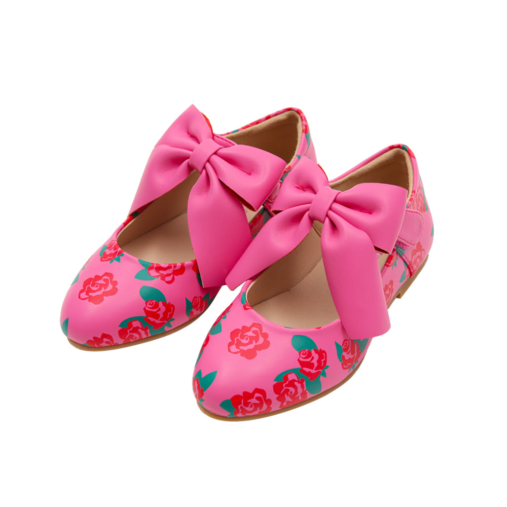 [프리오더 10% 할인적용 55,000→49,500] BEBEBEBE ribbon shoes (ROSE)